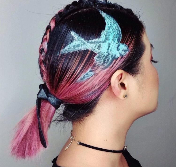 Тату на волосах – новый тренд 2021 года